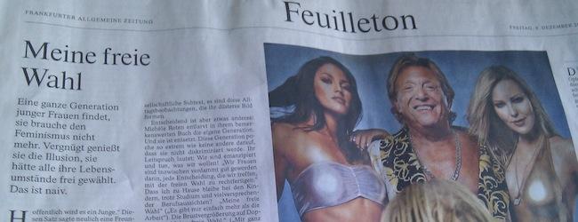 Ausschnitt aus der FAZ, 09.12.2011, S. 33
